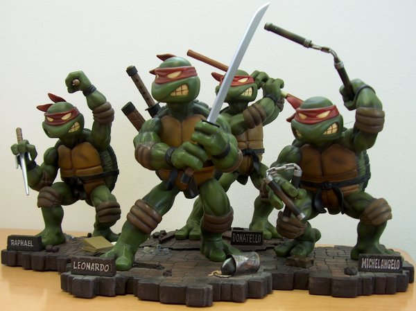 Statue teenage mutant ninja turtles