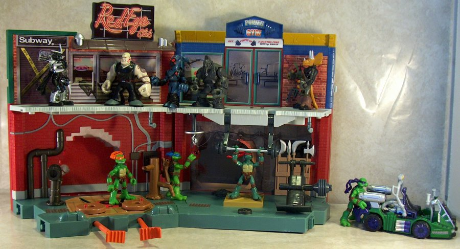 Tmnt Mini Mutants Gym And Dojo Play Sets