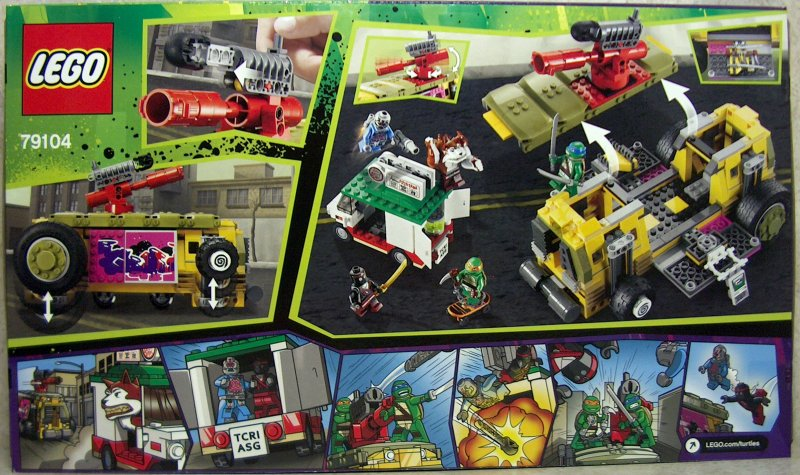 Lego 79104 TMNT Teenage Mutant Ninja Turtles The Shellraiser Street Chase New.