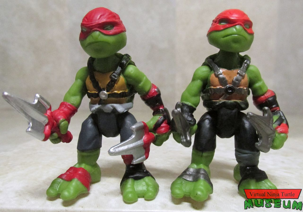 Lot de 4 Nickelodeon Teenage Mutant Ninja Turtles Mini PLAYMATES figures Teenage Mutant Ninja Turtles