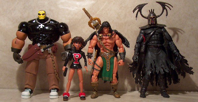 Legendary Comic Book Heroes Body Bags and Conan 2 packs review
